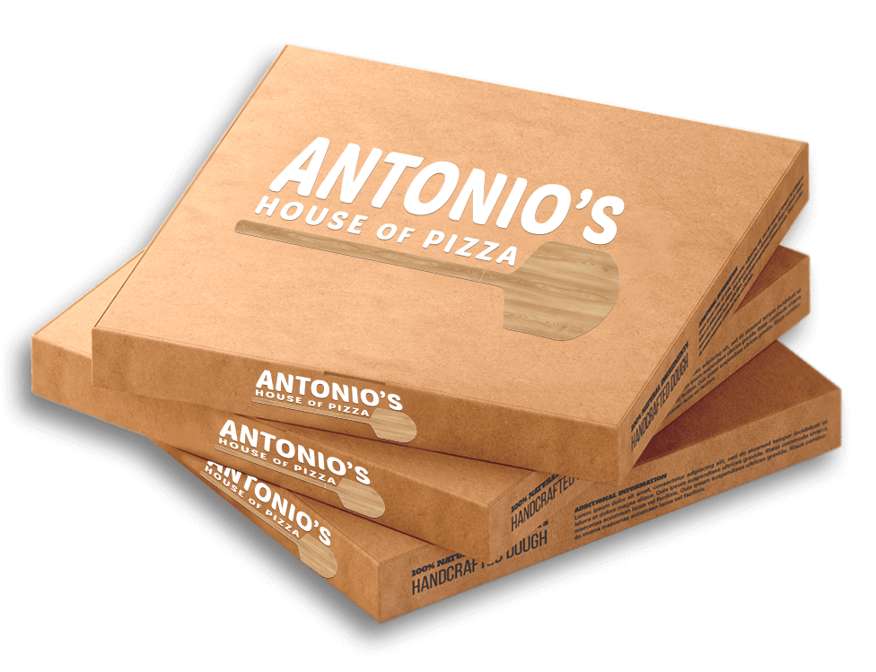 Antonio's House of Pizza - Pizza Box